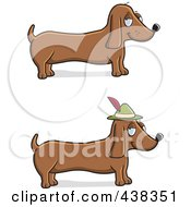 Royalty Free RF Clipart Illustration Of A Digital Collage Of Wiener Dogs