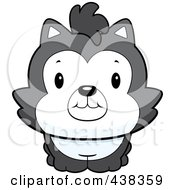 Royalty Free RF Clipart Illustration Of A Cute Husky Dog by Cory Thoman