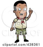 Creative Black Boy Scout In Uniform