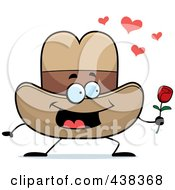Royalty Free RF Clipart Illustration Of A Cowboy Hat Holding A Single Rose