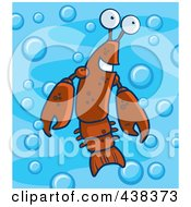 Crayfish In Blue Water