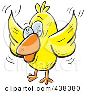 Royalty Free RF Clipart Illustration Of A Crazy Yellow Bird