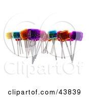 Clipart Illustration Of Various Flavored 3d Lollipop Suckers