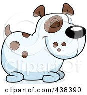 Royalty Free RF Clipart Illustration Of A Spotted Dog Resting