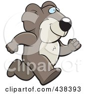 Royalty Free RF Clipart Illustration Of A Koala Running Upright by Cory Thoman