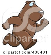 Royalty Free RF Clipart Illustration Of A Running Groundhog by Cory Thoman