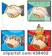 Poster, Art Print Of Digital Collage Of Hand Shakes