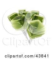 Clipart Illustration Of Green 3d Lollipops