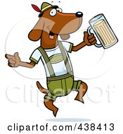 Royalty Free RF Clipart Illustration Of A German Oktoberfest Wiener Dog