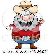 Royalty Free RF Clipart Illustration Of A Plump Prospector With An Idea