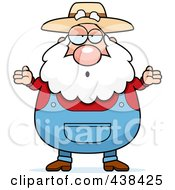 Royalty Free RF Clipart Illustration Of A Careless Prospector Shrugging by Cory Thoman