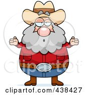 Royalty Free RF Clipart Illustration Of A Careless Plump Prospector Shrugging by Cory Thoman