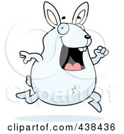 Royalty Free RF Clipart Illustration Of A Happy Rabbit Running