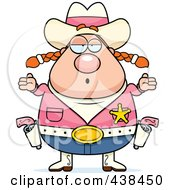 Royalty Free RF Clipart Illustration Of A Careless Cowgirl Shrugging