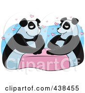 Royalty Free RF Clipart Illustration Of A Panda Couple