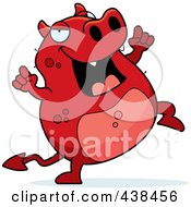 Royalty Free RF Clipart Illustration Of A Happy Dancing Devil