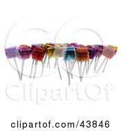 Clipart Illustration Of Various Flavored 3d Loli Pops