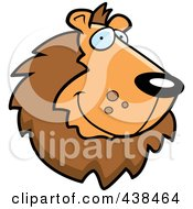 Royalty Free RF Clipart Illustration Of A Handsome Lion Face