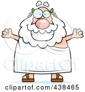 Royalty Free RF Clipart Illustration Of A Plump Greek Man With Open Arms by Cory Thoman