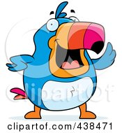 Royalty Free RF Clipart Illustration Of A Chubby Toucan Waving by Cory Thoman