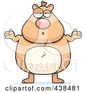 Royalty Free RF Clipart Illustration Of A Careless Hamster Shrugging