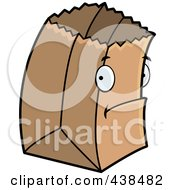 Royalty Free RF Clipart Illustration Of A Shy Paper Bag