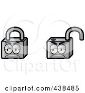 Royalty Free RF Clipart Illustration Of A Digital Collage Of Padlocks by Cory Thoman