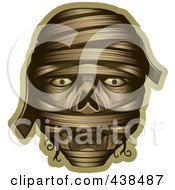 Royalty Free RF Clipart Illustration Of A Mummy Face