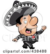 Royalty Free RF Clipart Illustration Of A Mariachi Man Walking