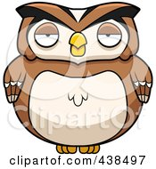Royalty Free RF Clipart Illustration Of A Chubby Owl by Cory Thoman