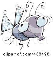 Royalty Free RF Clipart Illustration Of A Mosquito by Cory Thoman