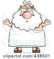 Royalty Free RF Clipart Illustration Of A Careless Plump Greek Man Shrugging by Cory Thoman