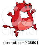 Royalty Free RF Clipart Illustration Of A Happy Jumping Devil