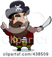 Royalty Free RF Clipart Illustration Of A Pirate Warning With A Sword by Cory Thoman