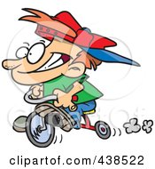 Royalty Free RF Clip Art Illustration Of A Cartoon Boy Riding His Trike by toonaday