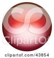 Clipart Illustration Of A Magical 3d Red Sphere