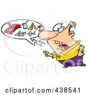 Royalty Free RF Clip Art Illustration Of A Cartoon Man Talking Trash by toonaday