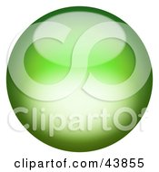 Clipart Illustration Of A Magical Green 3d Sphere