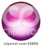 Clipart Illustration Of A Magical 3d Pink Sphere
