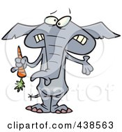 Royalty Free RF Clip Art Illustration Of A Cartoon Dieting Elephant Trimming Up By Eating Carrots by toonaday