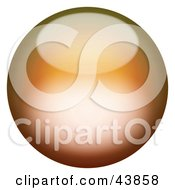 Clipart Illustration Of A Magical 3d Orange Sphere