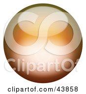 Magical 3d Orange Sphere