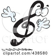 Royalty Free RF Clip Art Illustration Of A Cartoon Treble Clef