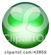 Clipart Illustration Of A Magical 3d Green Sphere
