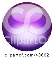 Clipart Illustration Of A Magical 3d Purple Sphere