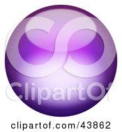Magical 3d Purple Sphere