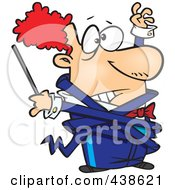 Royalty Free RF Clip Art Illustration Of A Cartoon Orchestra Conductor Tangled In His Jacket by toonaday