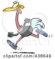 Royalty Free RF Clip Art Illustration Of A Cartoon Running Ostrich by toonaday