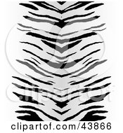 Clipart Illustration Of A Background Of Black Zebra Stripes Centered On White