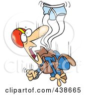 Royalty Free RF Clip Art Illustration Of A Cartoon Skydiver With An Underwear Parachute by toonaday #COLLC438665-0008